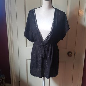 NWT black and gold coverup from Target